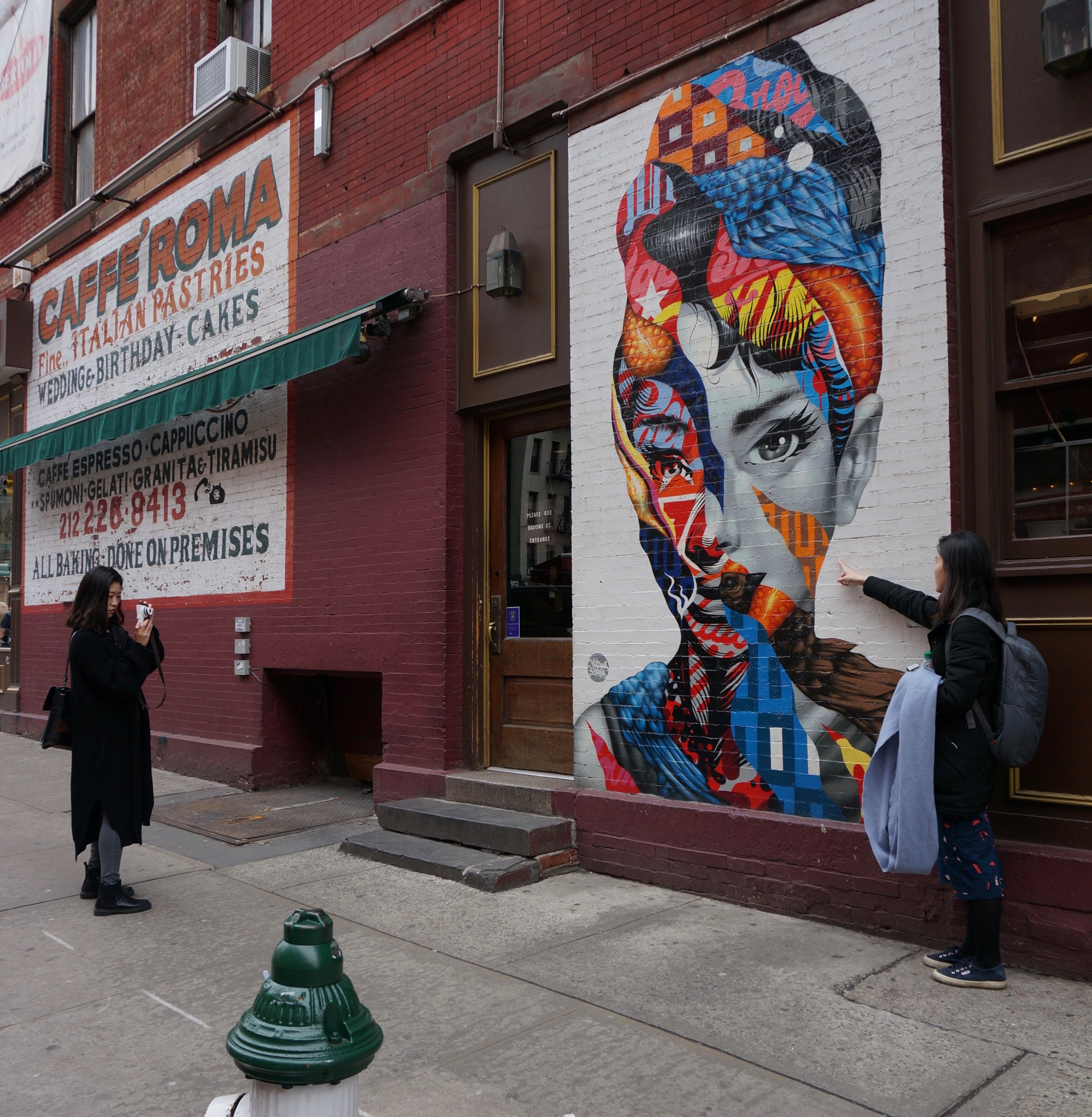 Paint the town red little italy and soho street art for Mural on broome street